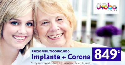 Implante + Corona = Todo Incluido sin sorpresas