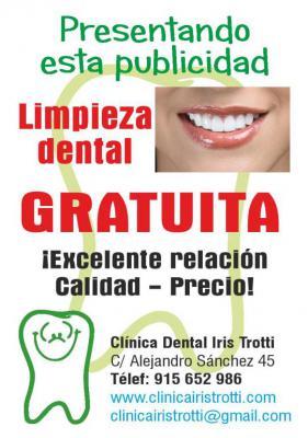 Limpieza Dental Gratuita   <br />Te corresponde una limpieza dental gratuita <br />https://clinicairistrotti.com/LimpiezaDentalGratuita.html<br />Sólo tienes que pedir cita para la Limpieza dental gratuita.   ¡ ¡ Es VERDAD ! !  La limpieza dental gratuita